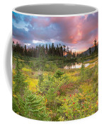 Early Autumn Meadow Sunset At Mt Baker Coffee Mug
