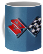Early C3 Corvette Emblem Blue Coffee Mug