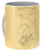 Early Computer Mouse Patent Yellowed Paper Coffee Mug