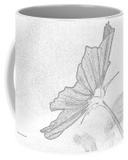 Early Dawns Light On Fall Flowers Bw Coffee Mug