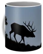 Early Morning Bull Elk Coffee Mug