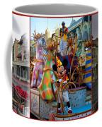 Early Morning Main Street With Mickey Walt Disney World 3 Panel Composite Coffee Mug