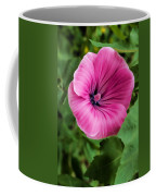 Early Summer Blooms Impressions - Bright Pink Malva - Vertical View Coffee Mug