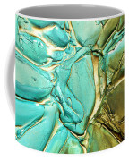 Aqua Teal Brown Organic Abstract Art Coffee Mug