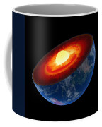 Earth Core Structure To Scale - Isolated Coffee Mug