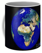 Earth From Space Europe And Africa Coffee Mug