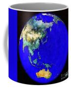 Earth Seen From Space Australia And Azia Coffee Mug