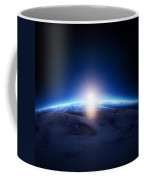 Earth Sunrise Over Cloudy Ocean  Coffee Mug