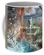Earth Wind And Fire Abstract Painting Madart Coffee Mug by Megan Duncanson