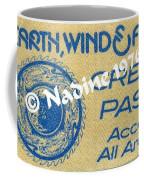 Earth Wind Fire Crew Pass 1976 Coffee Mug