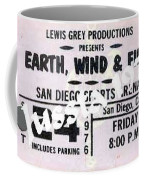 Earth Wind Fire San Diego Sports Arena Ticket September 24 1976 Coffee Mug