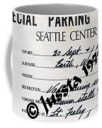 Earth Wind Fire Seattle Parking Permit Coffee Mug