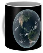 Earths Western Hemisphere With Rise Coffee Mug