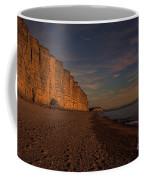 East Cliff Sunset Dorset Coffee Mug