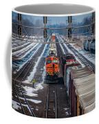 Eastbound And Westbound Trains Coffee Mug