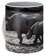 Eastern Black Rhinos Mama N Baby Coffee Mug