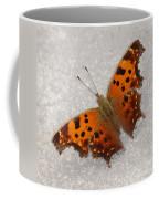 Eastern Comma Butterfly Coffee Mug