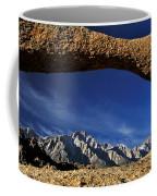 Eastern Sierra Nevada Mountains Lathe Arch Coffee Mug