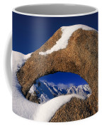 Eastern Sierras Through Snow Covered Arch Coffee Mug