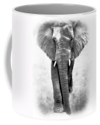Ebony Ivory African Elephant Coffee Mug
