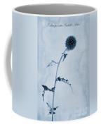 Echinops Ritro 'veitch's Blue' Cyanotype Coffee Mug