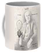 Edison And Electric Lamp Patent Coffee Mug