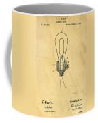 Edison Light Bulb Patent Art Coffee Mug