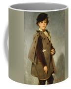 Edmond Dehodencq Wearing An Inverness Cape Coffee Mug
