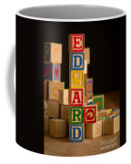 Edward - Alphabet Blocks Coffee Mug