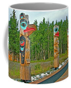Edward Smarch Totem Poles At Teslin Tlingit Heritage Memorial Center In Teslin-yt Coffee Mug