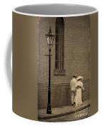 Edwardian Couple Walking On A Cobbled Street Coffee Mug
