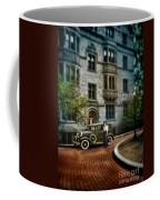 Edwardian Lady By Car Coffee Mug