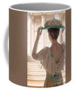 Edwardian Woman Adjusting Her Hat  Coffee Mug
