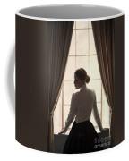 Edwardian Woman At The Window Coffee Mug