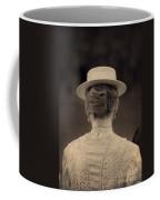 Edwardian Woman With Straw Boater Rear View Coffee Mug