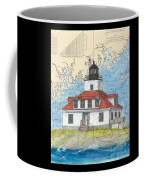 Egg Rock Lighthouse Me Nautical Chart Map Art Coffee Mug