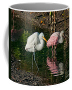 Egret And Pink Spoonbill Coffee Mug