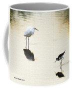 Egret And Stilt At The Grp Coffee Mug