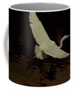 Egret Fractalius Coffee Mug