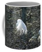 Egret In Full Display Lake Martin Louisiana Coffee Mug