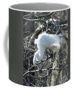 Egret In Lake Martin Swamp Louisiana Coffee Mug