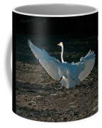 Egret Showing Off Coffee Mug