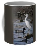 Egret Standing Guard Coffee Mug