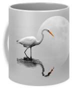 Egret With Moon  Coffee Mug