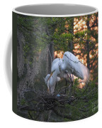 Egrets At Nest Coffee Mug