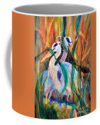 Egrets In Red 2            Coffee Mug