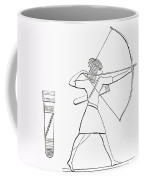 Egyptian Archer And Quiver.  From The Imperial Bible Dictionary, Published 1889 Coffee Mug