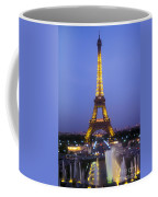 Eiffel Tower At Dusk Coffee Mug