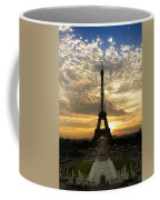 Eiffel Tower At Sunset Coffee Mug by Debra and Dave Vanderlaan