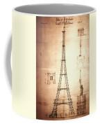 Eiffel Tower Design Coffee Mug